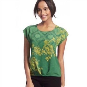 CAbi Green with Envy Floral Top #597 - Size S